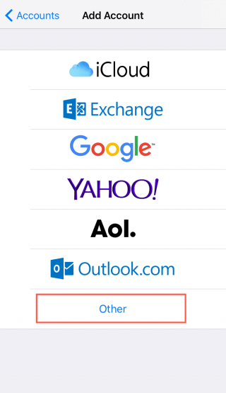 how to change the imap mail name