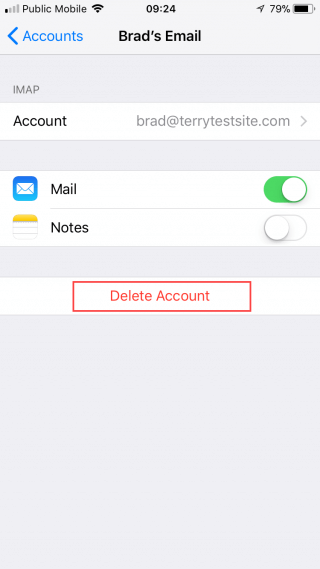 how to delete telegram account ios